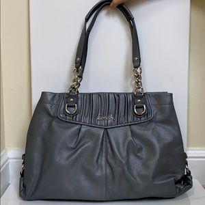 NWOT Coach Gray Leather Shoulder Bag